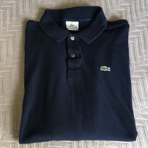 Lacoste navy long sleeve polo shirt, size 6